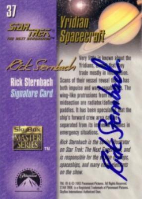 Rick Sternbach (illustrator) autographed Star Trek The Next Generation trading card
