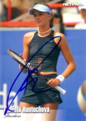 Daniela Hantuchova autographed 2003 NetPro tennis Rookie Card