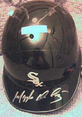 Magglio Ordonez autographed Chicago White Sox mini helmet
