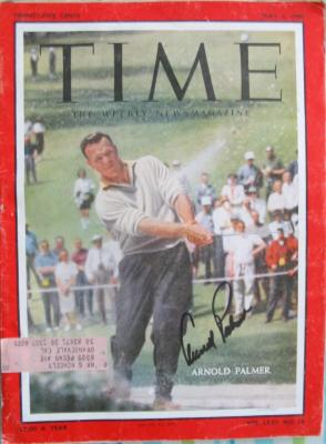 Arnold Palmer autographed 1960 Masters Time magazine