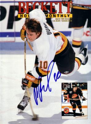 Pavel Bure autographed Vancouver Canucks 1992 Beckett Hockey magazine cover
