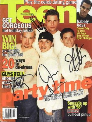 Nick Lachey & 98 Degrees autographed Teen magazine
