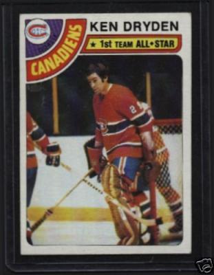 Ken Dryden Montreal Canadiens 1978-79 Topps card #50 VG