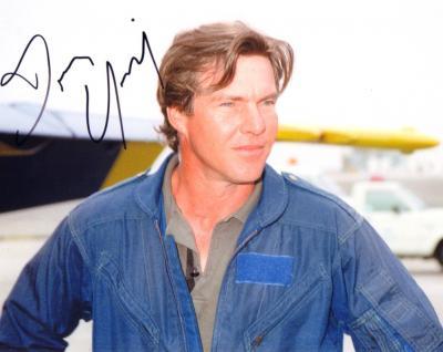 Dennis Quaid autographed 8x10 photo