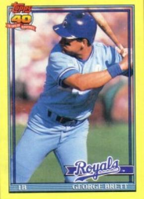 George Brett Kansas City Royals 1991 Topps box bottom card