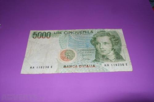 Italy-5000 Liri- 1962/74