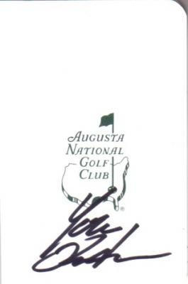Yuta Ikeda autographed Augusta National Masters scorecard