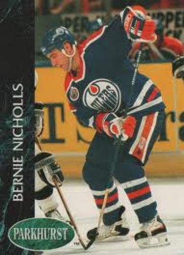 Hockey Card; Bernie Nicholls; Edmonton