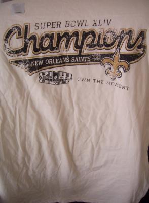 New Orleans Saints Super Bowl 44 Champions T-shirt NEW