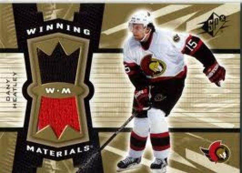 Memorabilia Cards. 2006-07 SPx Winning Materials Dany Heatley. Nick