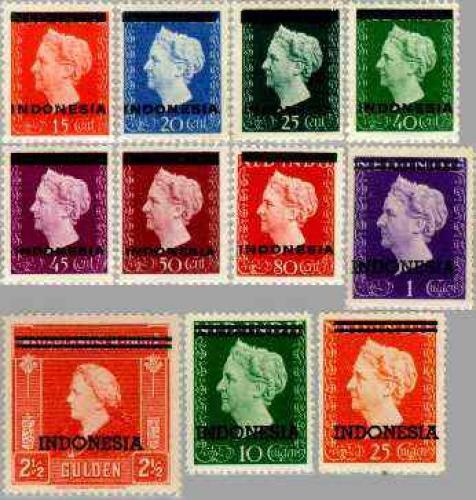 Overprints 11v; Year: 1948