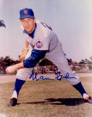 Warren Spahn autographed New York Mets 8x10 photo