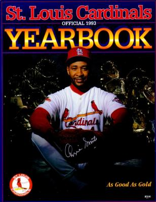 Ozzie Smith autographed St. Louis Cardinals 1993 Yearbook
