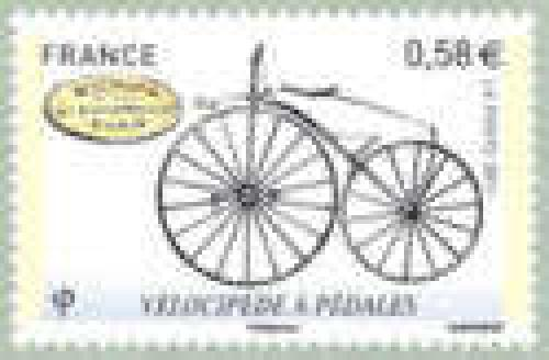 Bicycle with pedals (1865)