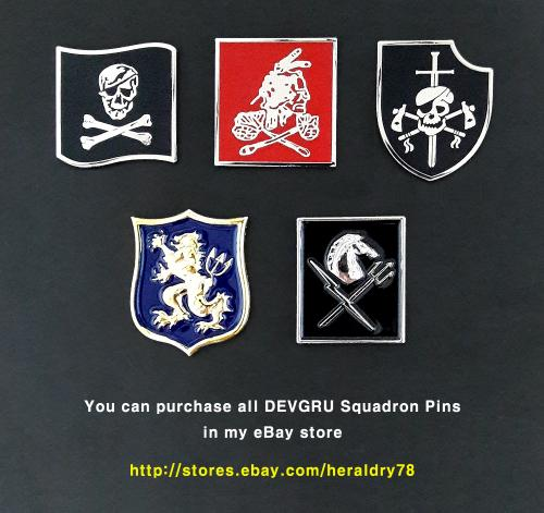 U.S. Navy SEAL Team 6 Six DEVGRU Squadron Insignia Metal Badge Pins