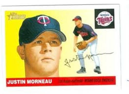 Justin Morneau Baseball card 2004 Topps Heritage #362 Minnesota Twins