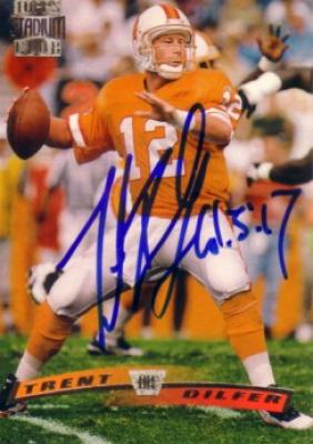 Trent Dilfer autographed Tampa Bay Buccaneers 1996 Stadium Club card