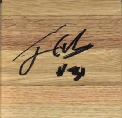 Jarron Collins autographed basketball hardwood floor
