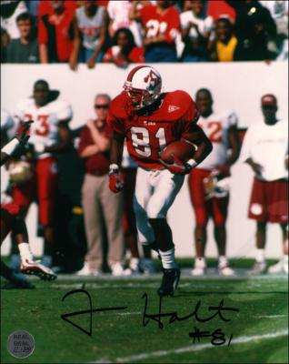 Torry Holt autographed 8x10 N.C. State photo