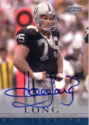 Howie Long certified autograph Raiders Upper Deck NFL Legends card