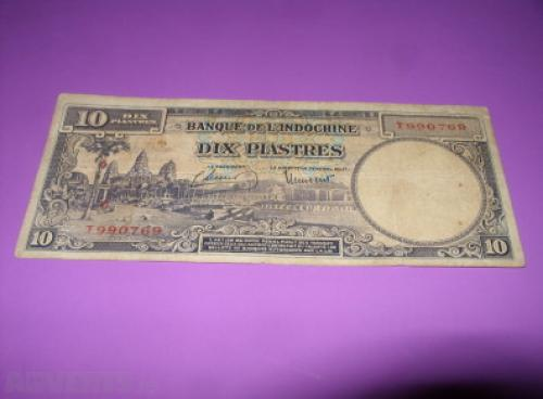 French Indochina-10 PIASTRES-1947/51