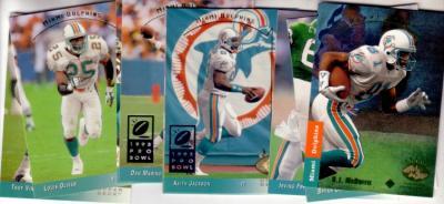 1993 Miami Dolphins SP team card set (Dan Marino O.J. McDuffie)