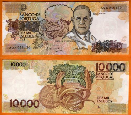 Portugal 10.000esc 1989