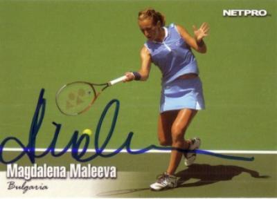 Magdalena Maleeva autographed 2003 Netpro card