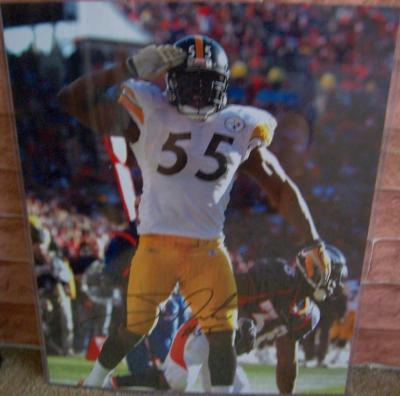Joey Porter autographed Pittsburgh Steelers 2005 AFC Championship 16x20 poster size photo