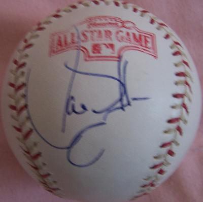 Larry Walker autographed 2004 All-Star Game baseball