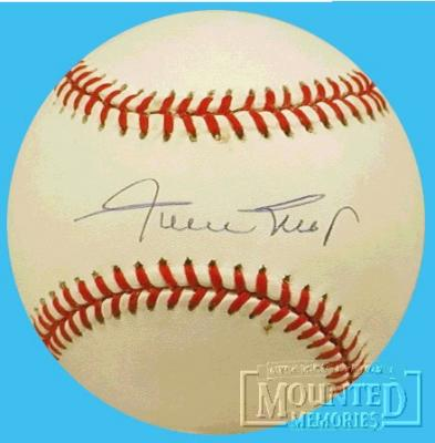 Willie Mays autographed NL baseball