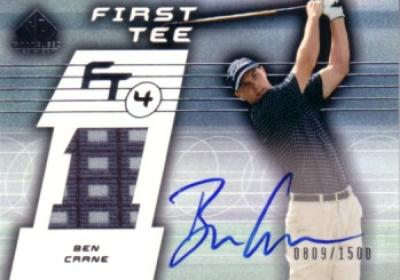 Ben Crane certified autograph 2003 SP Game Used card with tournament worn shirt swatch #809/1500