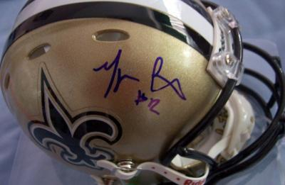 Marques Colston autographed New Orleans Saints mini helmet