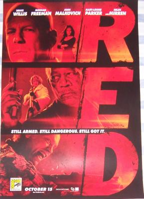 RED movie 2010 Comic-Con exclusive poster