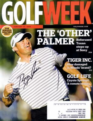 Ryan Palmer autographed 2010 Golf Week magazine