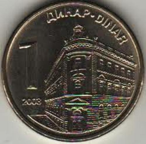 Coins; Serbia 1 Dinara 2003