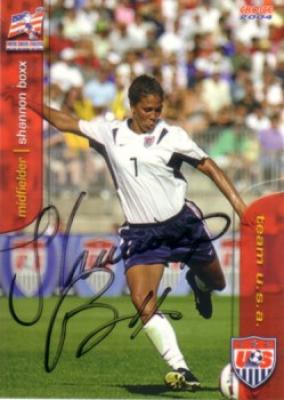 Shannon Boxx autographed 2004 U.S. Soccer card