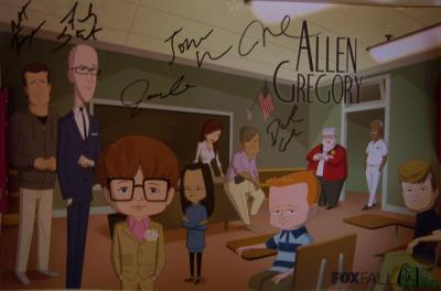 Allen Gregory cast autographed 2011 Comic-Con poster (Jonah Hill French Stewart)