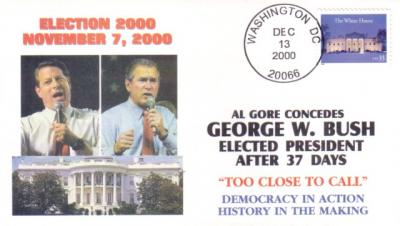 2000 George W. Bush & Al Gore presidential election cachet cover