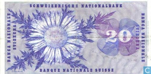 Switzerland 20 Francs 1961