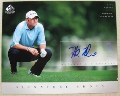Hank Kuehne certified autograph 2004 SP Signature Golf 8x10 photo card