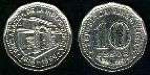 10 Pesos; Year: 1966; (km 62); Nickel-Clad-Steel; CASA DE TUCUMAN 150 ANVO INDEPENDENC.DE 1816
