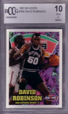 David Robinson 1997-98 Hoops card graded BCCG 10 (MINT or better)