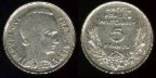 5 francs; Year: 1933; (km 887)