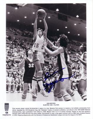 Ann Meyers autographed UCLA Bruins 8x10 black & white photo