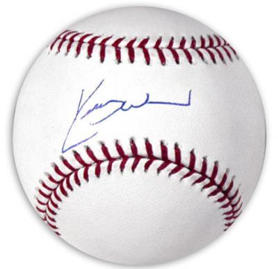Kerry Wood autographed MLB baseball