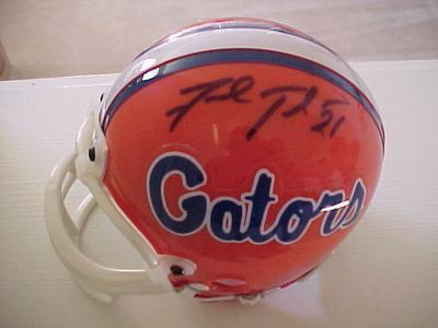 Fred Taylor autographed Florida Gators mini helmet