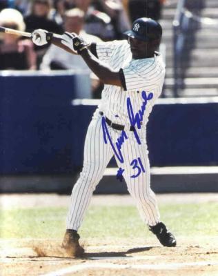Tim Raines autographed New York Yankees 8x10 photo