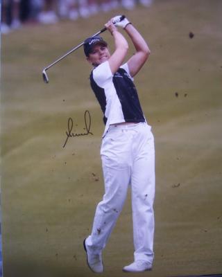 Annika Sorenstam autographed 2003 Colonial 16x20 poster size photo