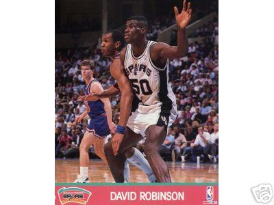 David Robinson San Antonio Spurs 1990 NBA Hoops 8x10 photo